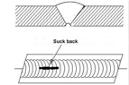 Concavidad excesiva en la raíz - defectos de soldadura